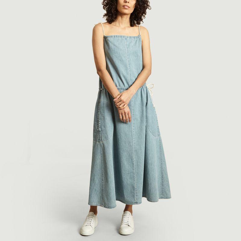 Robe Anouk évasée en denim de coton - Happy Haus