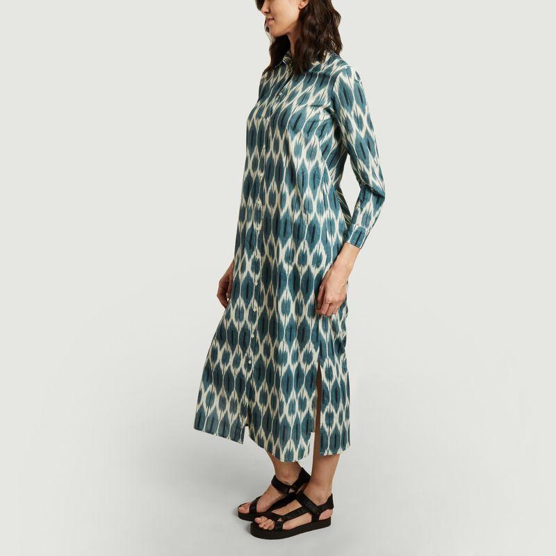 Robe-chemise longue imprimée en coton Reaction Ikat - Hartford