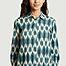 matière Robe-chemise longue imprimée en coton Reaction Ikat - Hartford