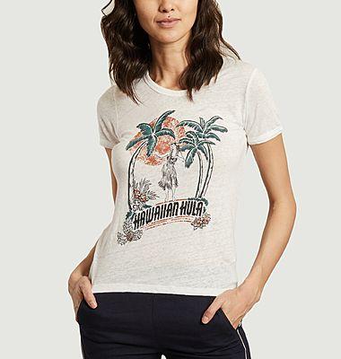 T-shirt en lin imprimé The Hawaiian Hula Telio