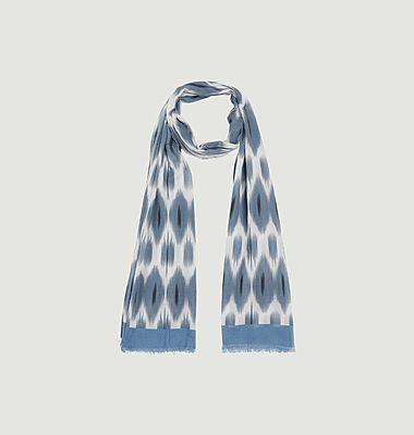 Ikat cotton printed scarf