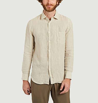 Chemise Storm slim lin chambray washed
