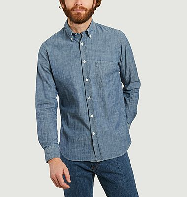 Chemise slim-fit Side en chambray