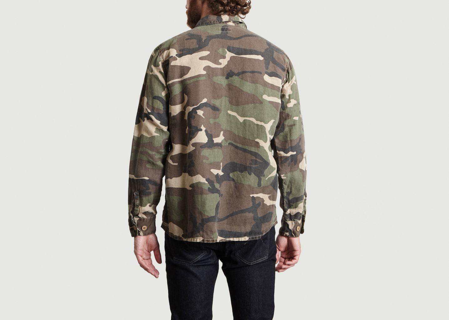 Veste Motif Camouflage En Lin Jame - Hartford