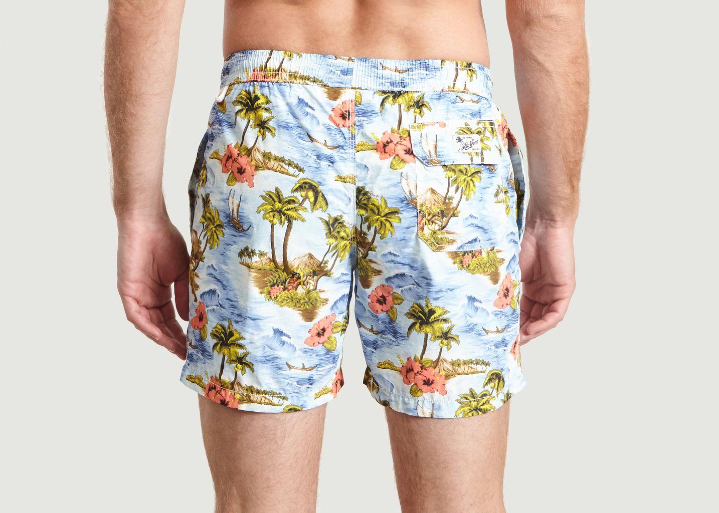 Short De Bain Print Tropical Swim - Hartford