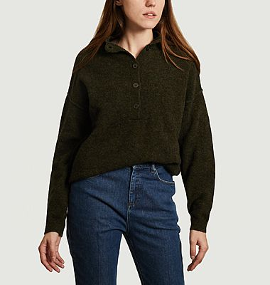 Pull col montant boutonné Munch