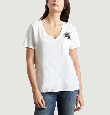 T-Shirt Brodé Palmier Thierry