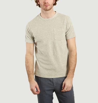 T-shirt en coton éponge à poche