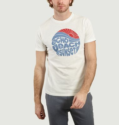 T-Shirt En Coton Imprimé Echo Beach Sunset