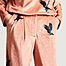 matière Pantalon large en velours imprimé corbeaux Moor - Heimstone