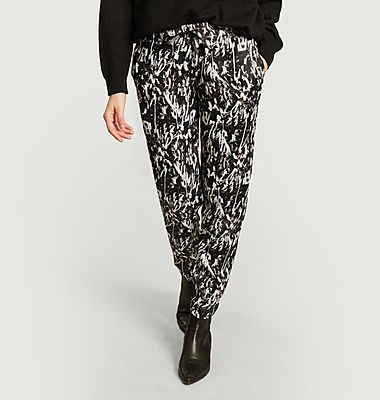 Melchior Papers print trousers