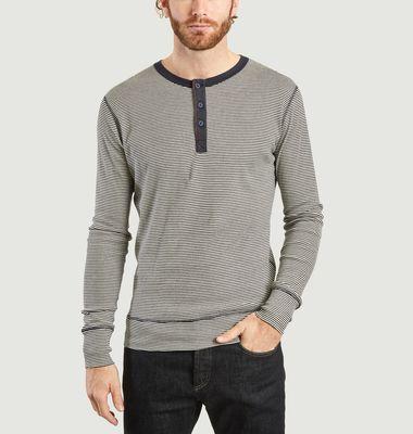 T-Shirt Manches Longues Henley Rayé Harri