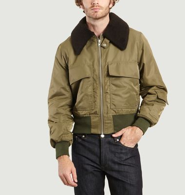 Bomber Col Mouton Expressionniste