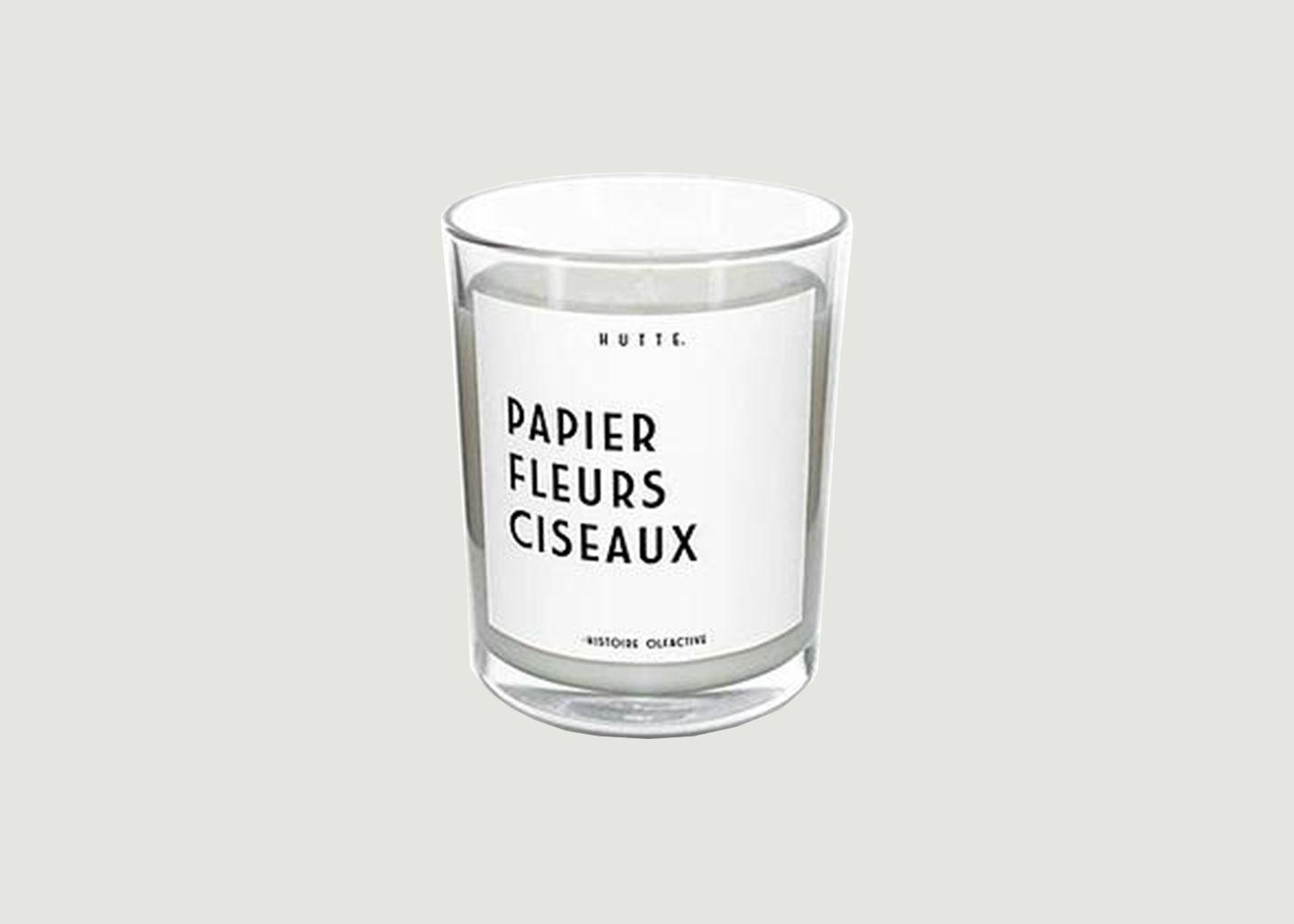 Bougie parfumée Papier Fleurs Ciseaux - Hutte