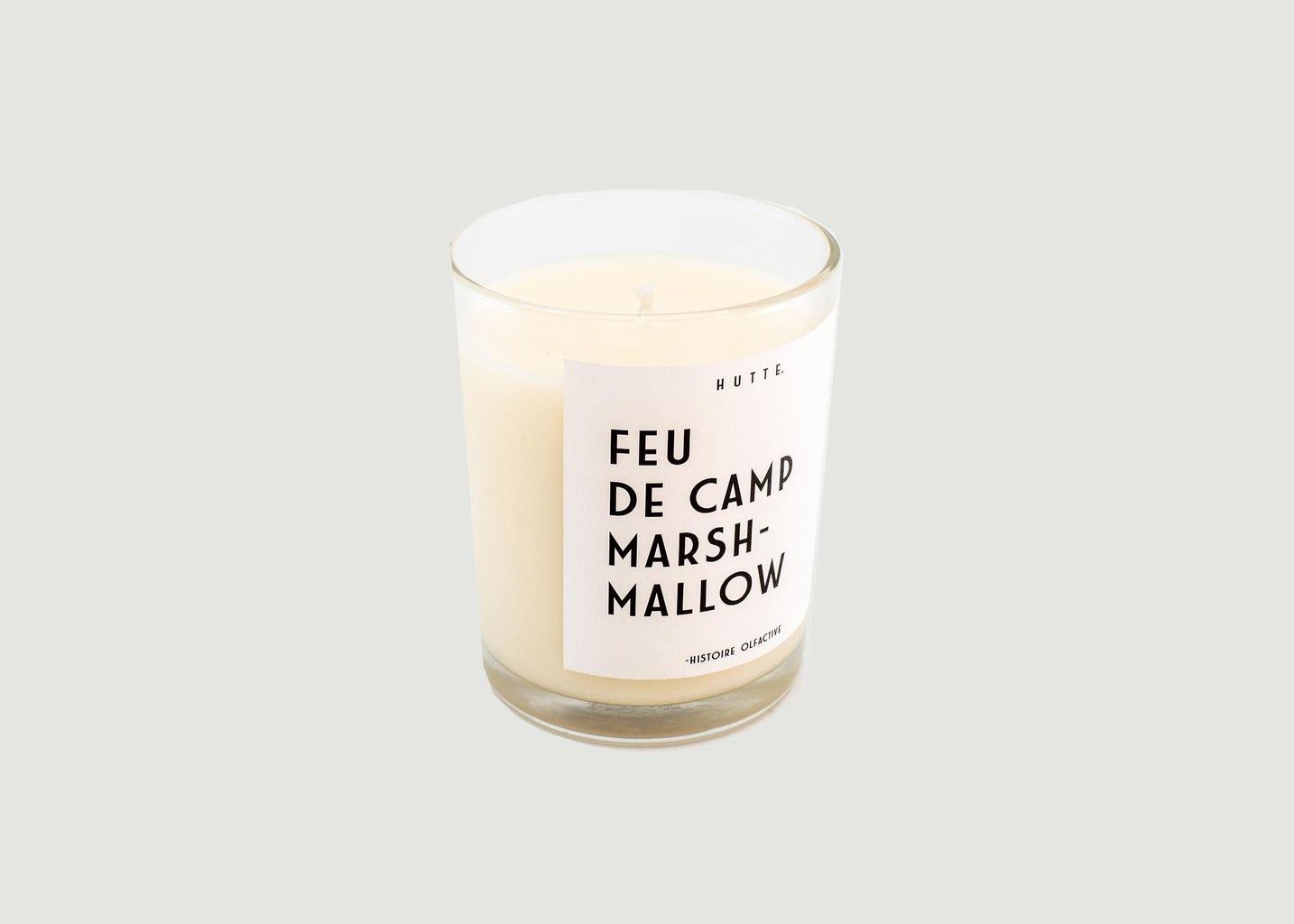 Bougie parfumée Feu De Camp Marshmallow - Hutte