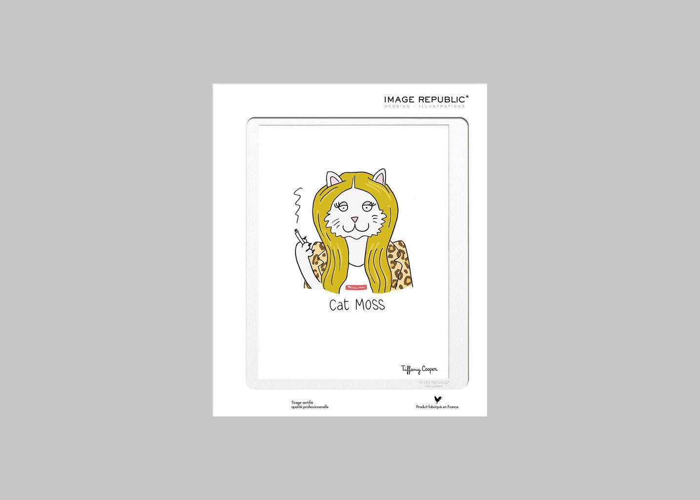Affiche Cat Moss - Image Republic