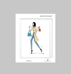 Paris Fashion Print