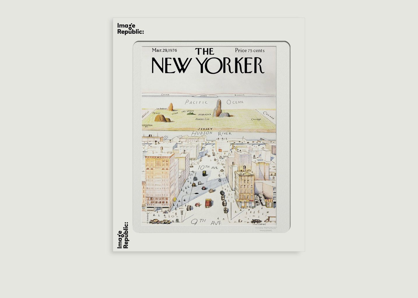 Affiche The New Yorker 07 Steinberg - Image Republic