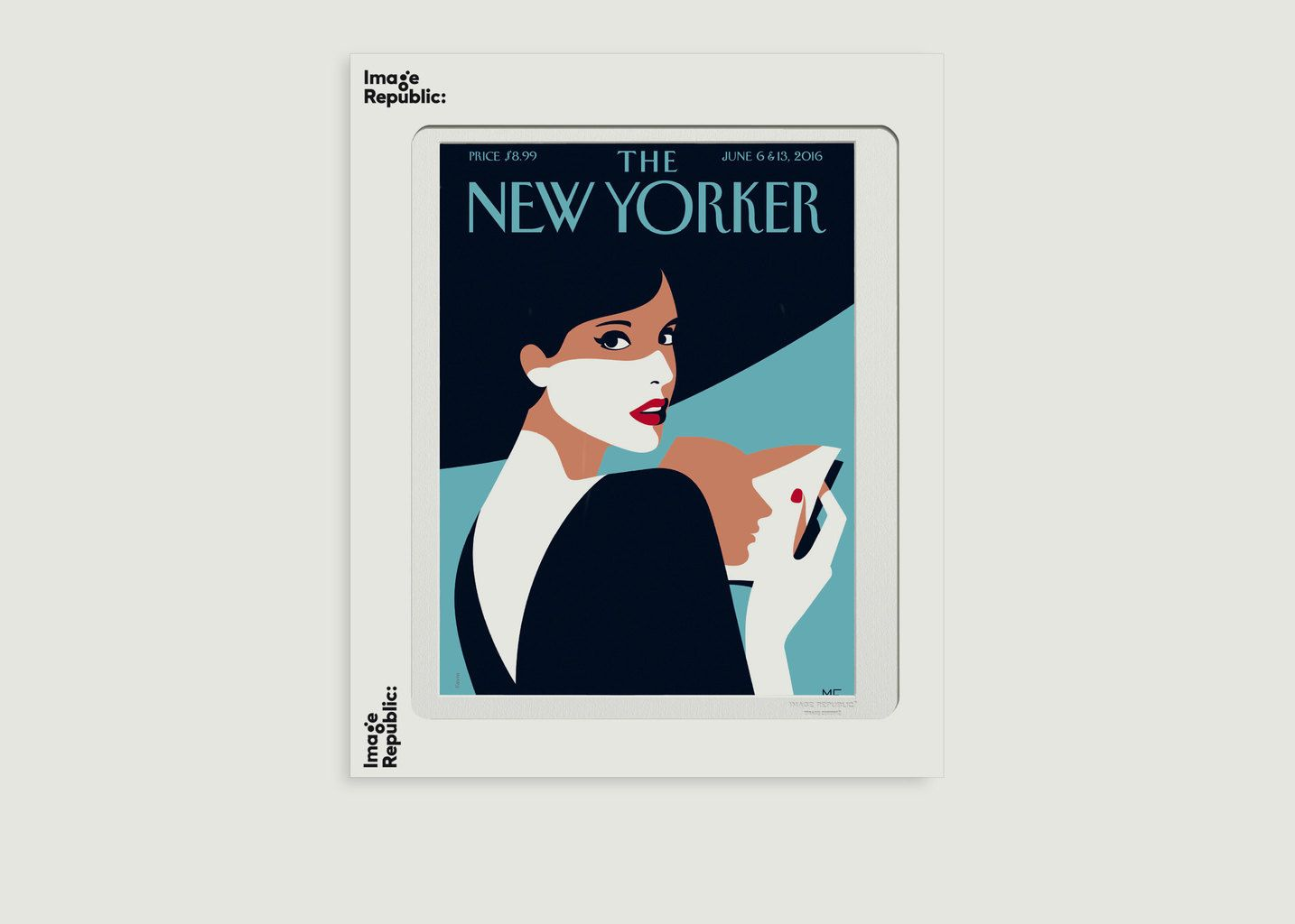 Affiche The New York 86 Favre Page Turner - Image Republic