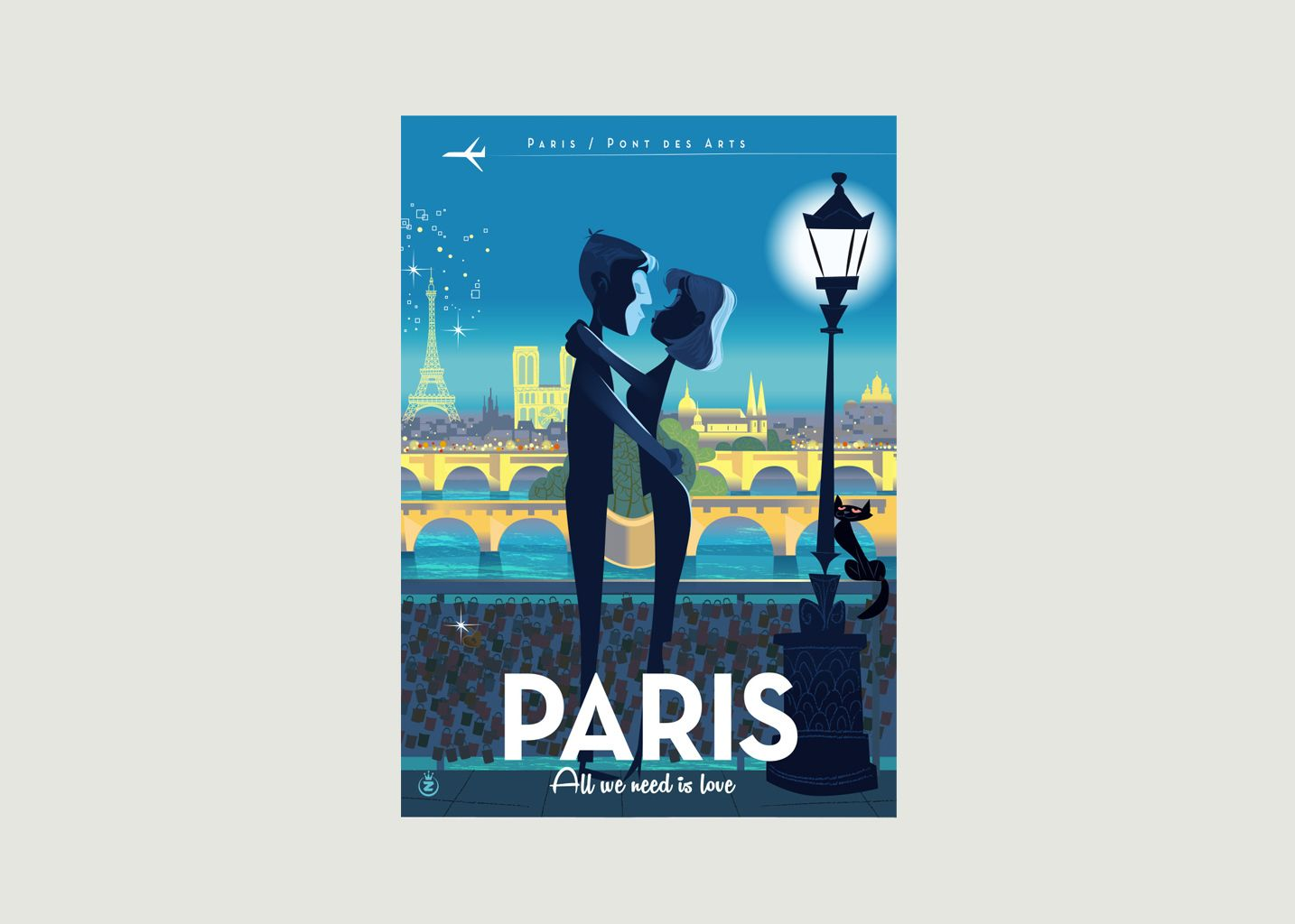 Affiche Monsieur Z Paris Love - Image Republic