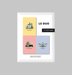 Cartes Postales Duo Architecture