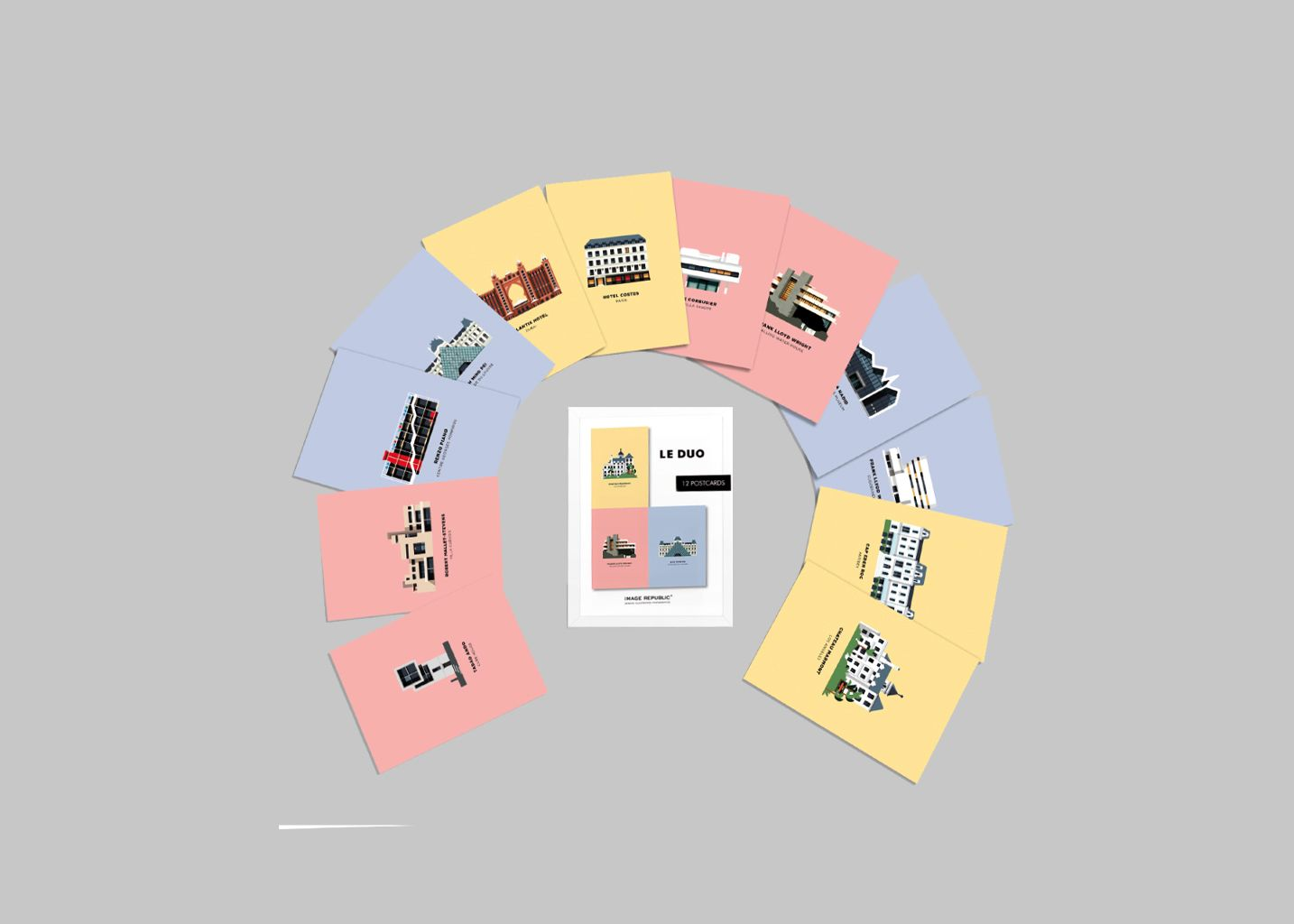 Cartes Postales Duo Architecture - Image Republic