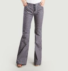 Charlotte Striped Trousers