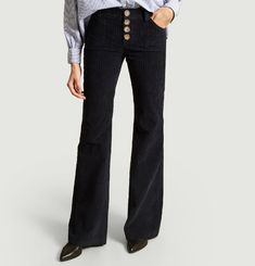 Pantalon Flare En Velours Charlotte