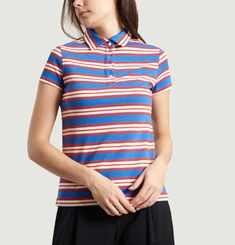 Marie Jacobs Striped Polo