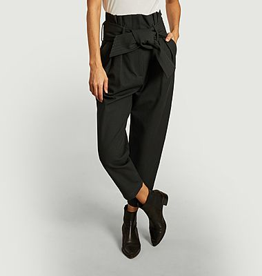 Ritokie belted paperbag trousers
