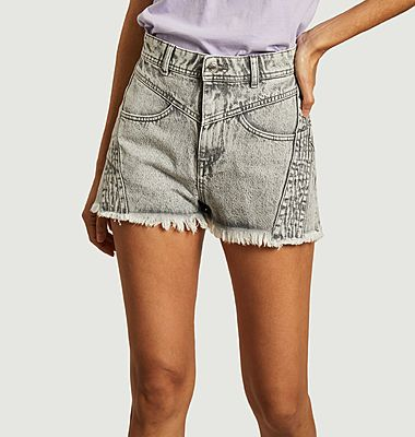 Lorez tinted denim shorts