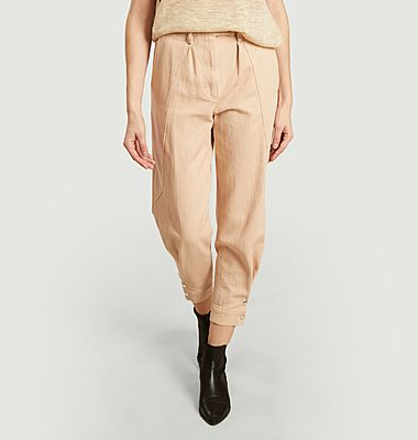 Viklay 7/8 length cotton trousers