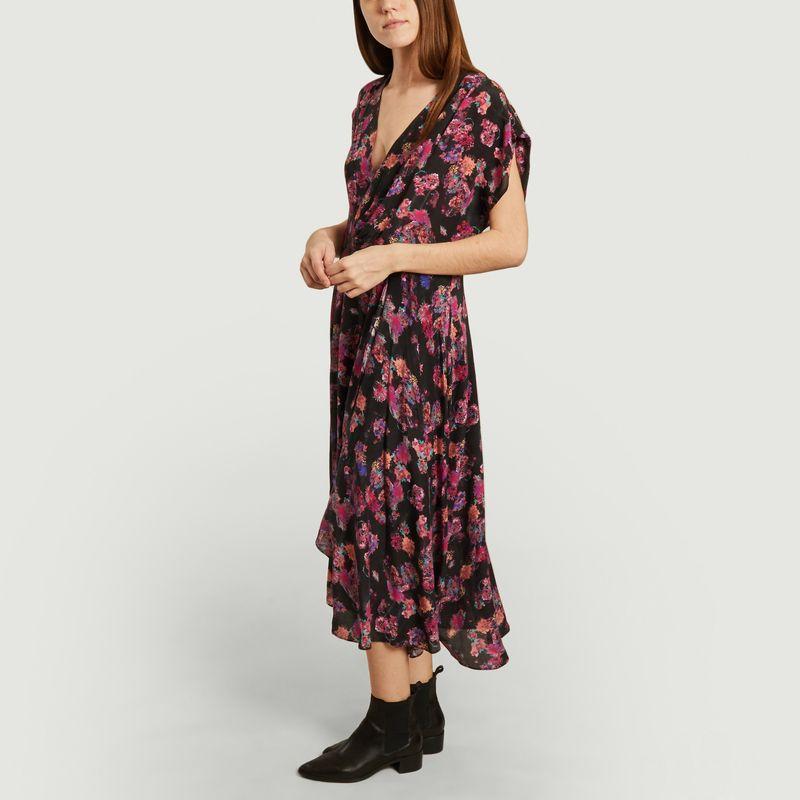 Robe longue en soie imprimé fleuri Plauna - IRO