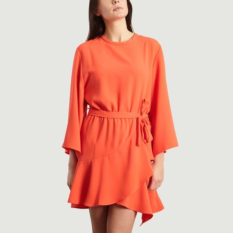 Crepe Layer Dress Coral Iro Paris L Exception