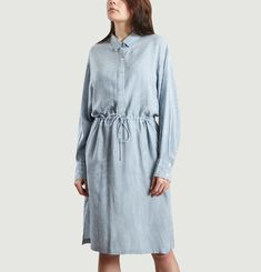 Robe Chemise Markala à Fines Rayures
