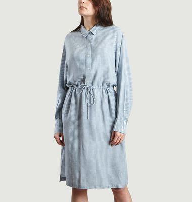 Robe Chemise Markala à Fines Rayures