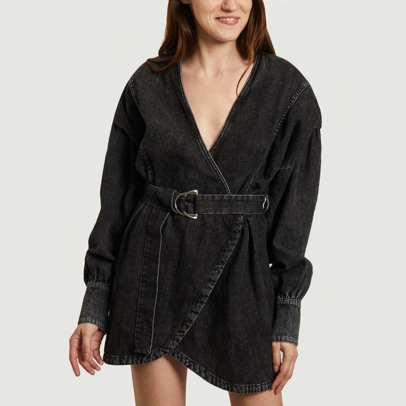 Robe portefeuille en jean teinté Gerlin - IRO
