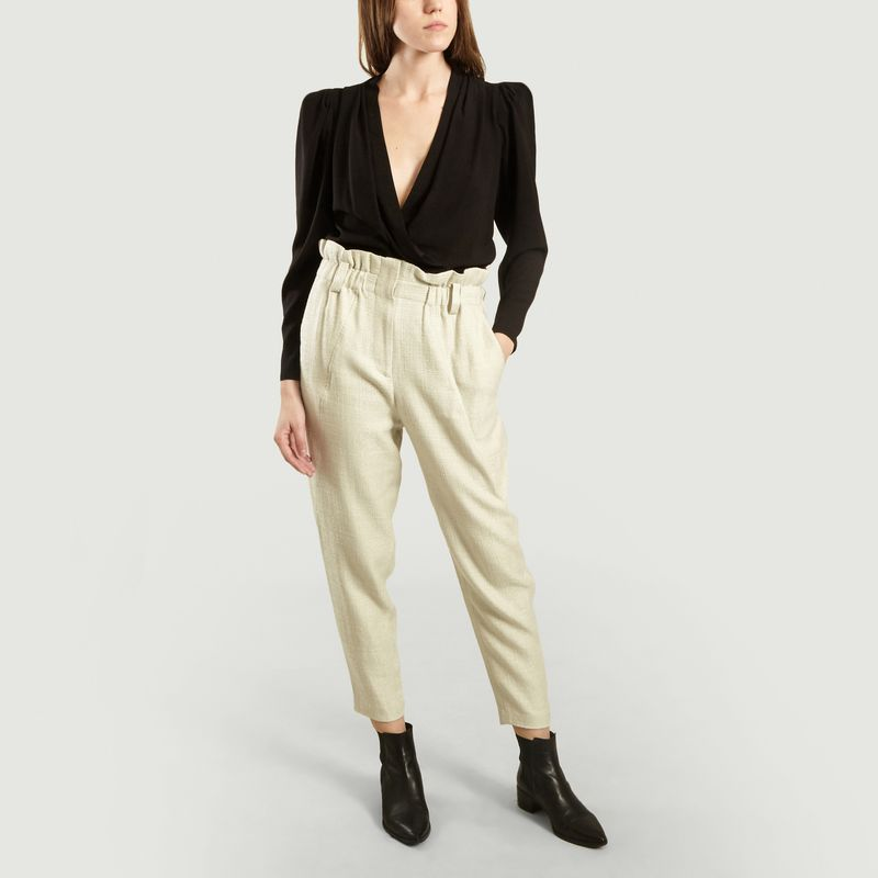 Pantalon Kaly en Lin Mélangé Taille Haute - IRO