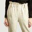 matière Pantalon Kaly en Lin Mélangé Taille Haute - IRO