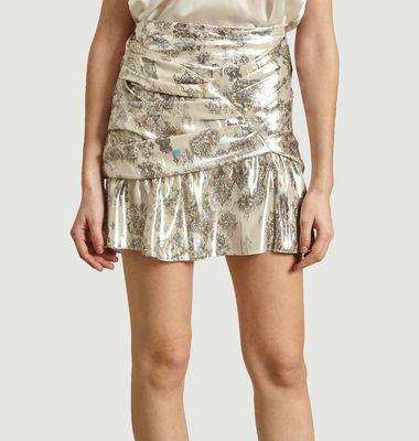 Mini jupe lamée Carila