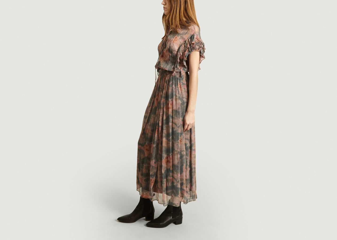 Robe mi-longue imprimé fleuri Sault - IRO