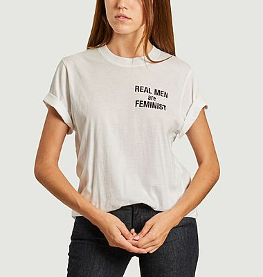 T-shirt à lettrage Real Men Are Feminist