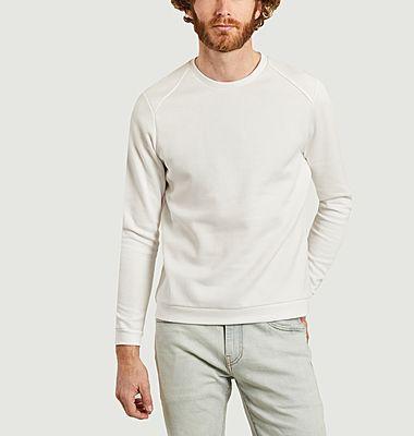 Sweatshirt japonais blanc piqué