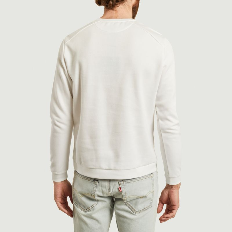Sweatshirt japonais blanc piqué - JagVi