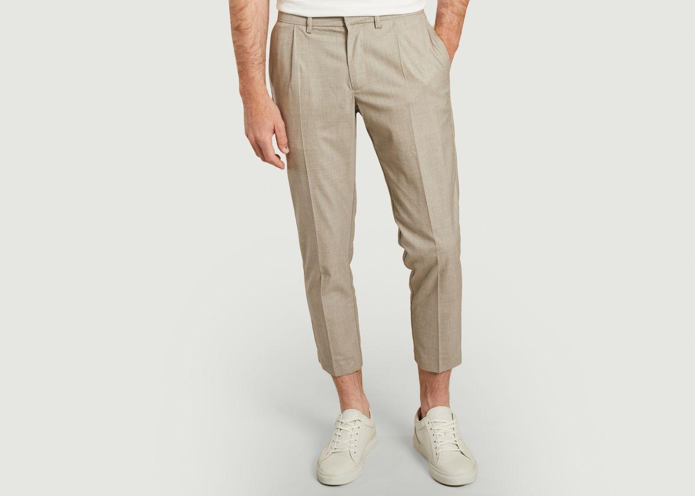 Pantalon à pinces Prince de galles 7/8eme - JagVi