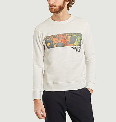 Sweatshirt imprimé Melting Pot
