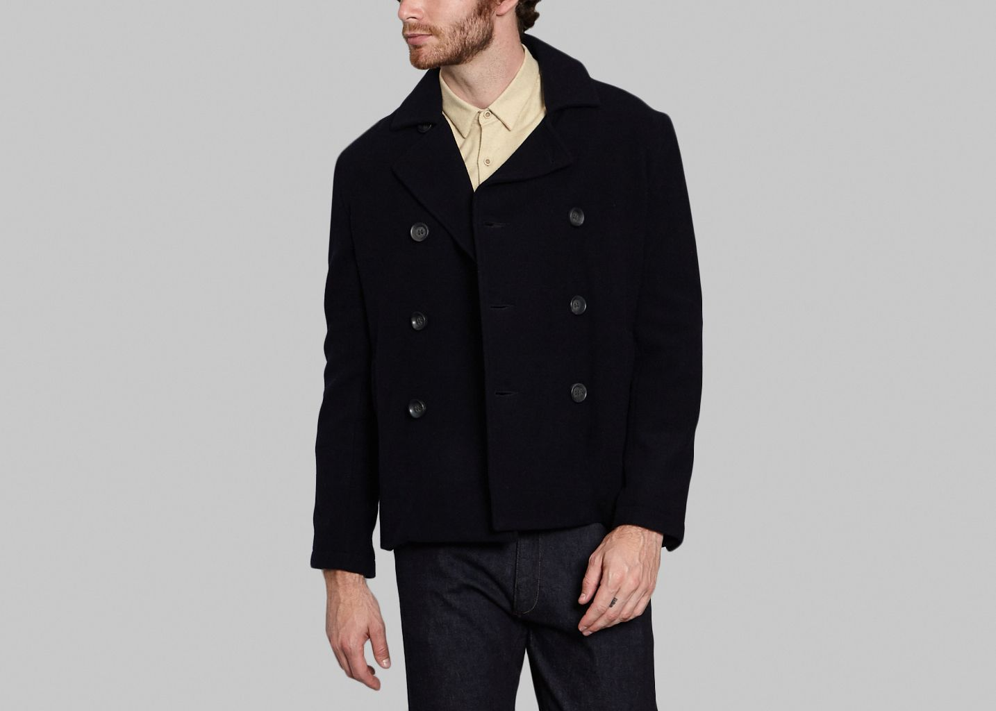 Wool and Cashmere Pea Coat - JagVi