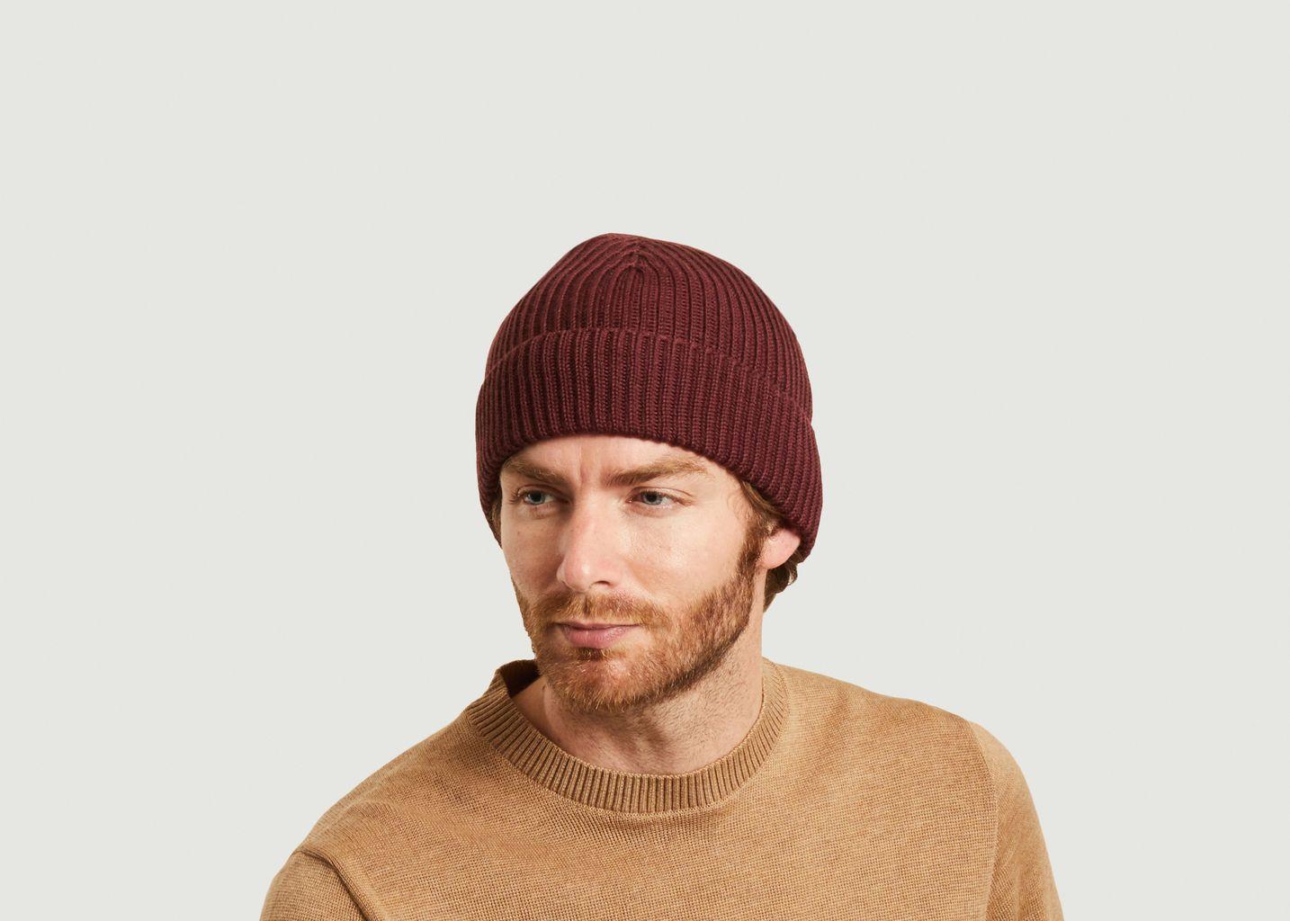 Bonnet côtelé en laine mérinos - JagVi