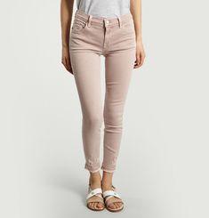 Mid Rise Capri Jeans