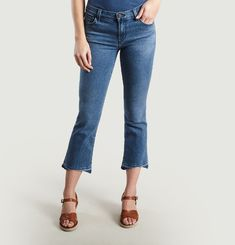 Selena Cropped Boot Cut Jeans